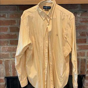 Orange with white stripes XL Polo long sleeve